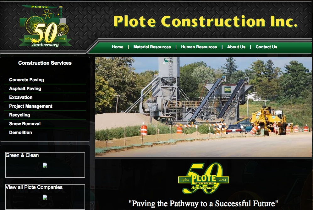 plote construction webpage