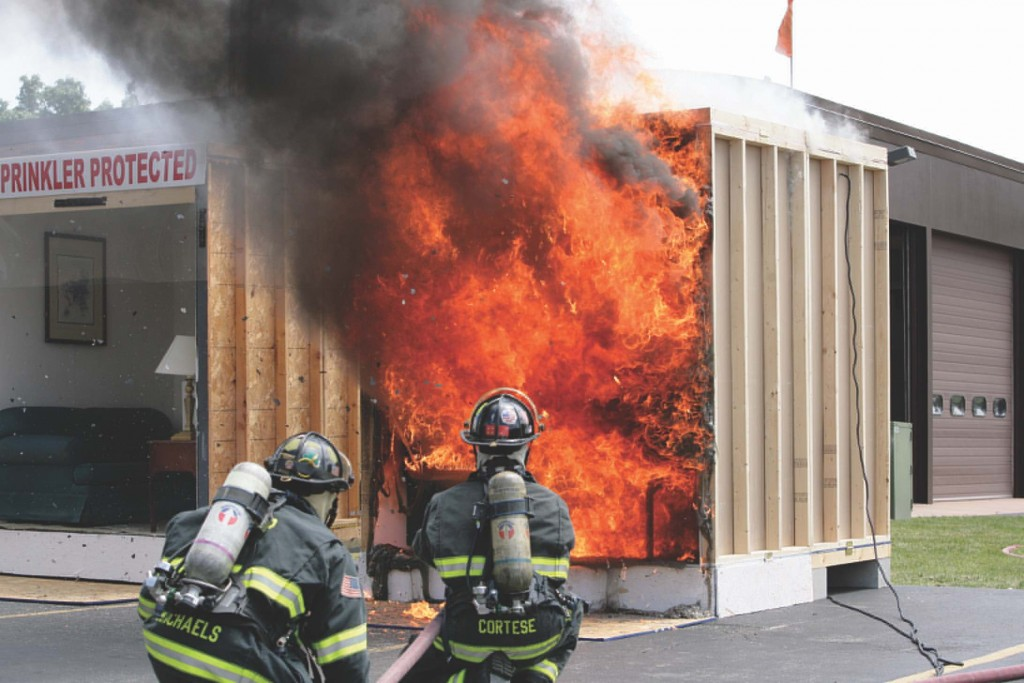 The National Fire Protection Association (NFPA) has been advocating for residential sprinkler systems -- an idea that has been resisted by the home building industry