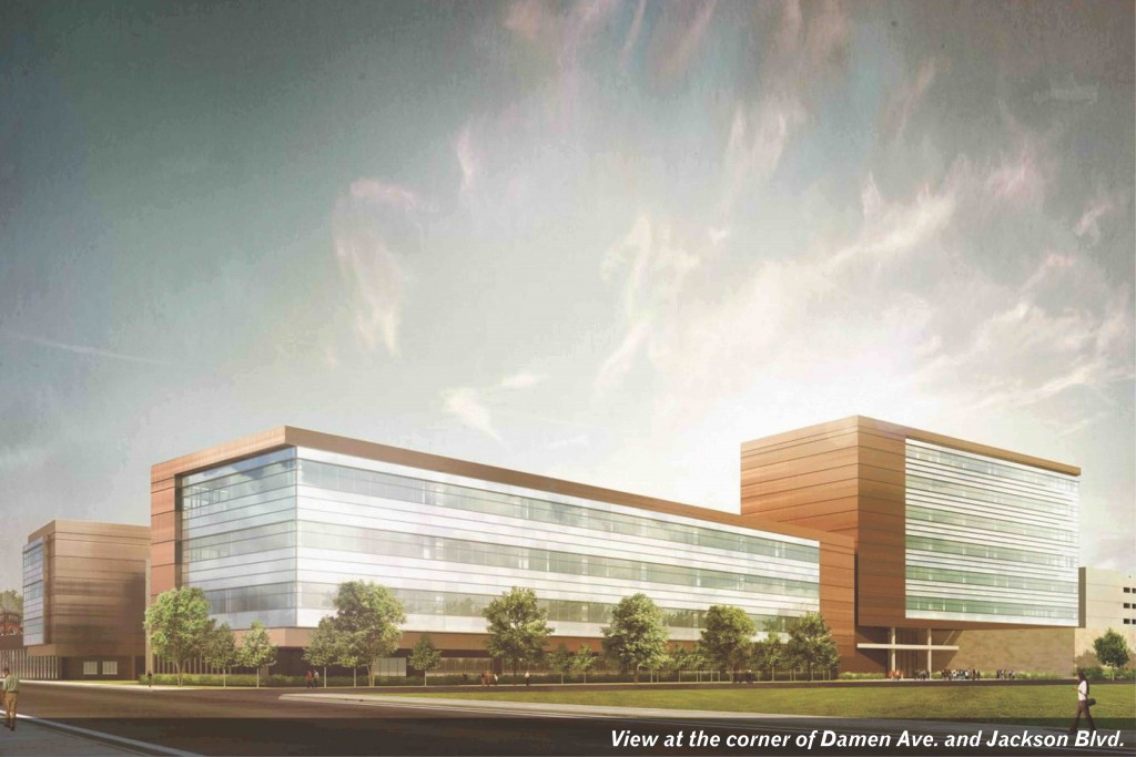 A rendering of the new Malcolm X College project, which is expected to be complete in time for the January, 2016 term. The Blackhawks will build their facility on the old college site.