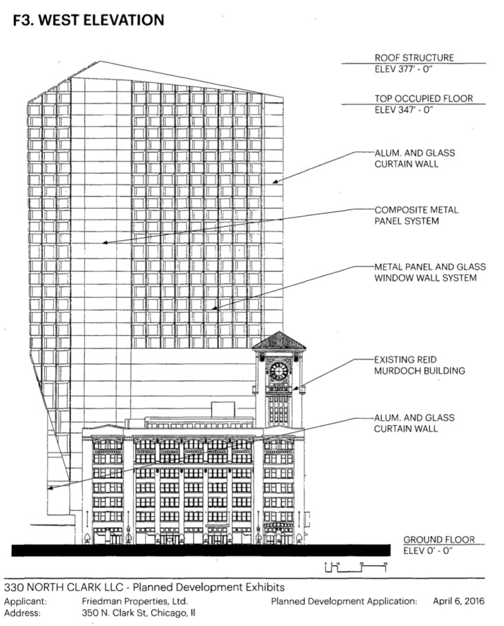 F3 west elevation