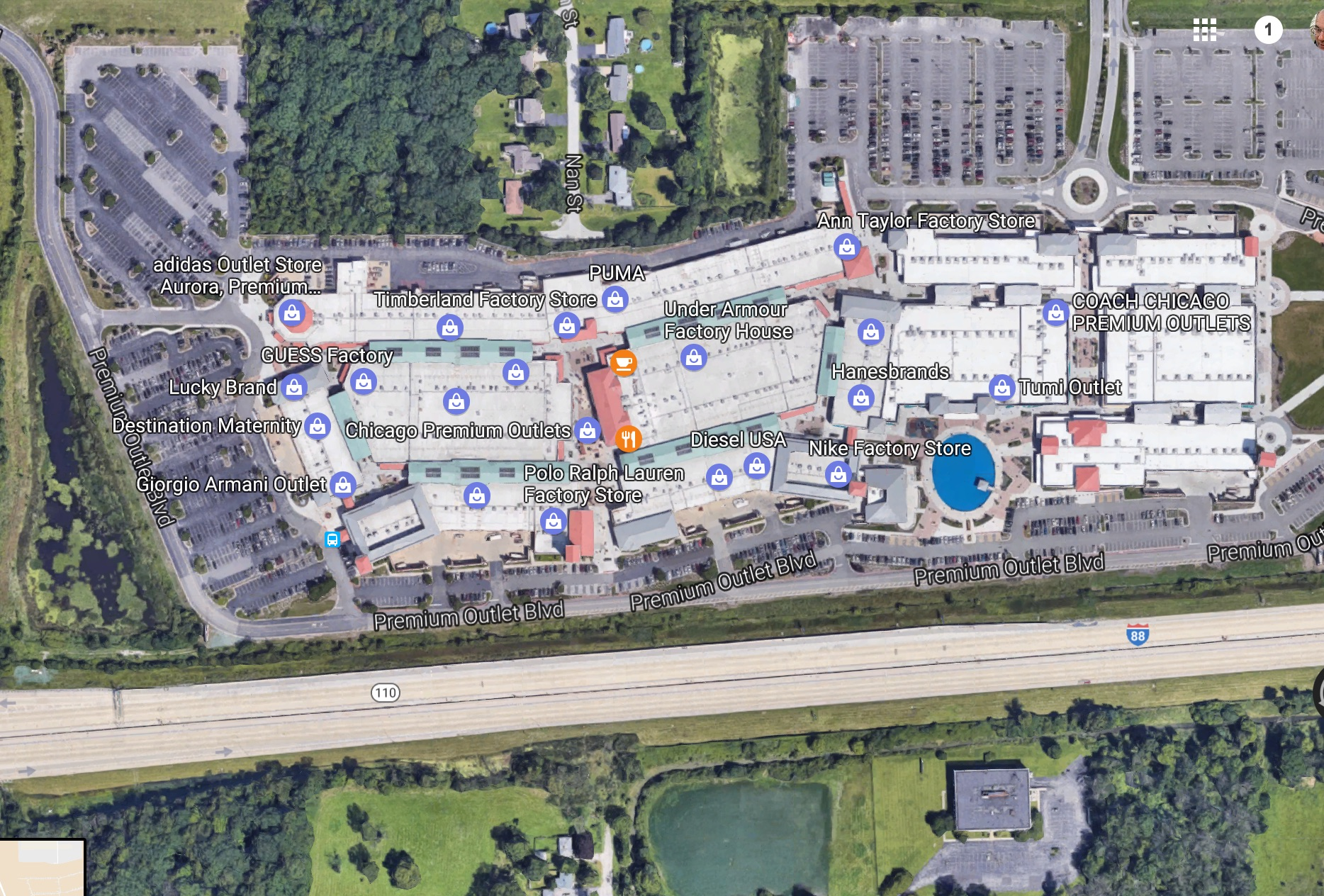DataBid Project Of The Week Kirklands  Chicago Premium Outlets - Chicago map satellite