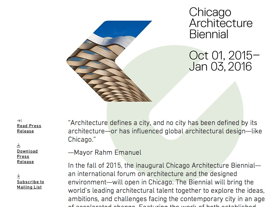 chicago architecutal bienniel