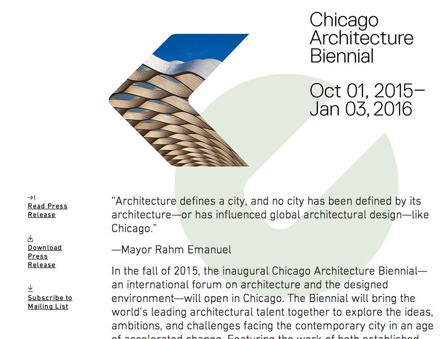 chicago architecutal bienniel