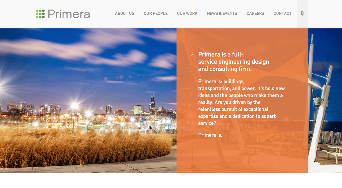 The award-winning Primera website