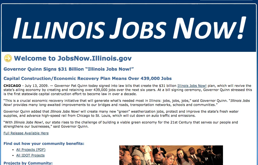 Illinois jobs now page