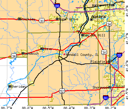 Illinois Governor announces Kendall County road construction ... on tx county road map, la county road map, nc county road map, pa county road map,