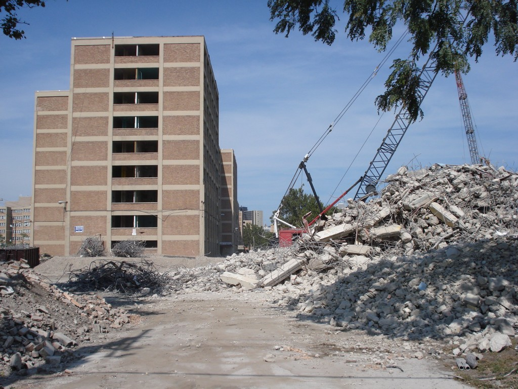 Demolition of Harold Ickes Homes, Chicago, CHA (Creative Commons photo: Timothy Brown)