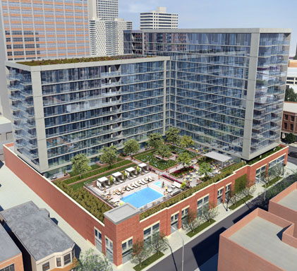 Halsted Flats rendering