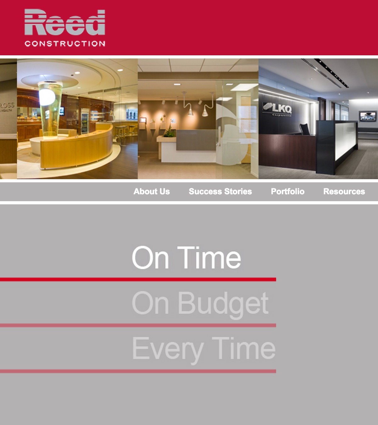 reed construction webpage