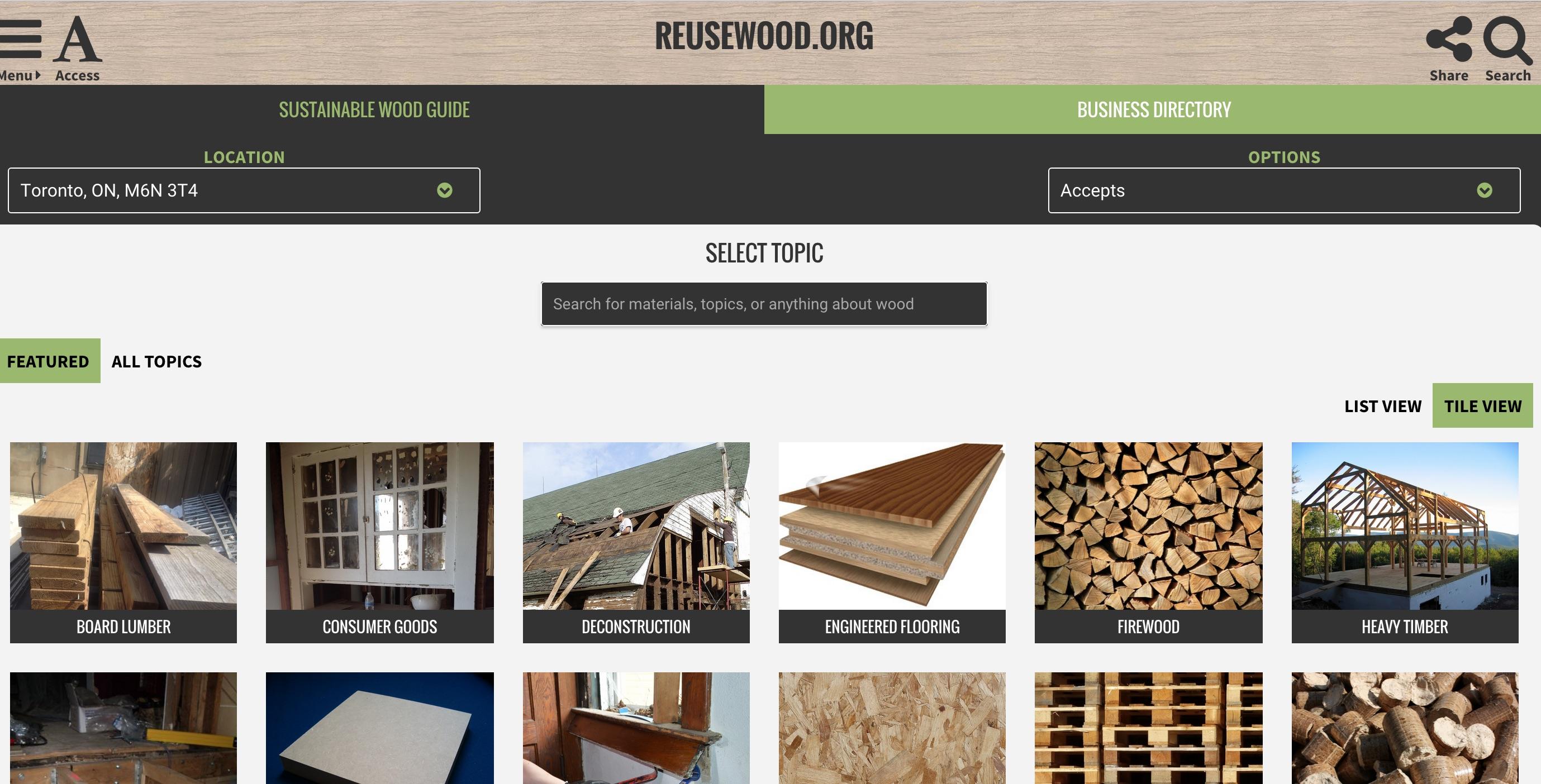 reusewood.org
