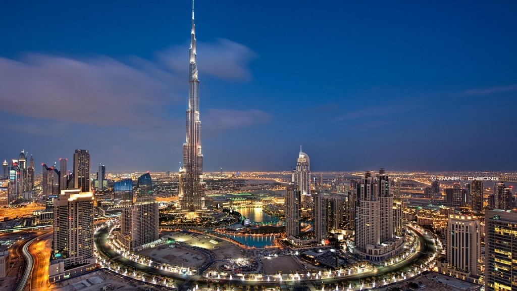 The Burj Khalifa in Dubai is the tallest artifical structure in the world.