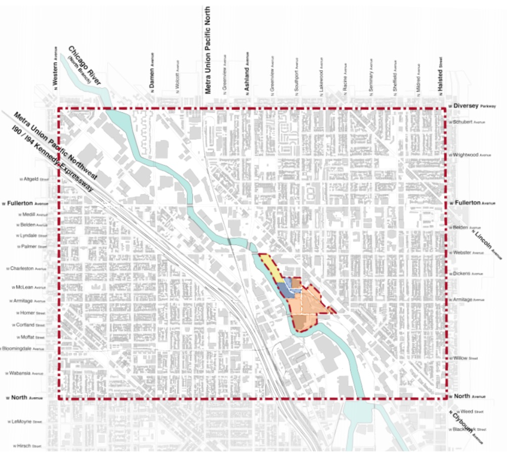A map showing the proposed development area.