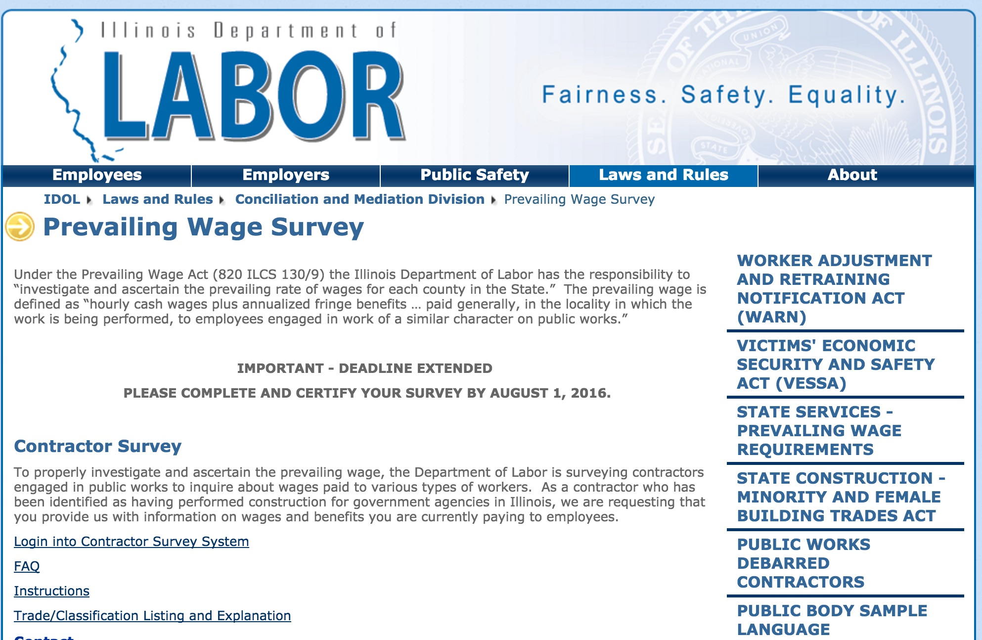 DOL prevailing wage