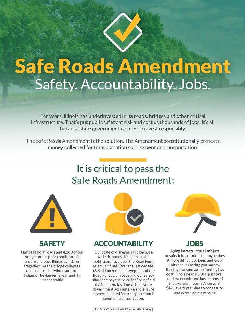 safe roads amendment poster