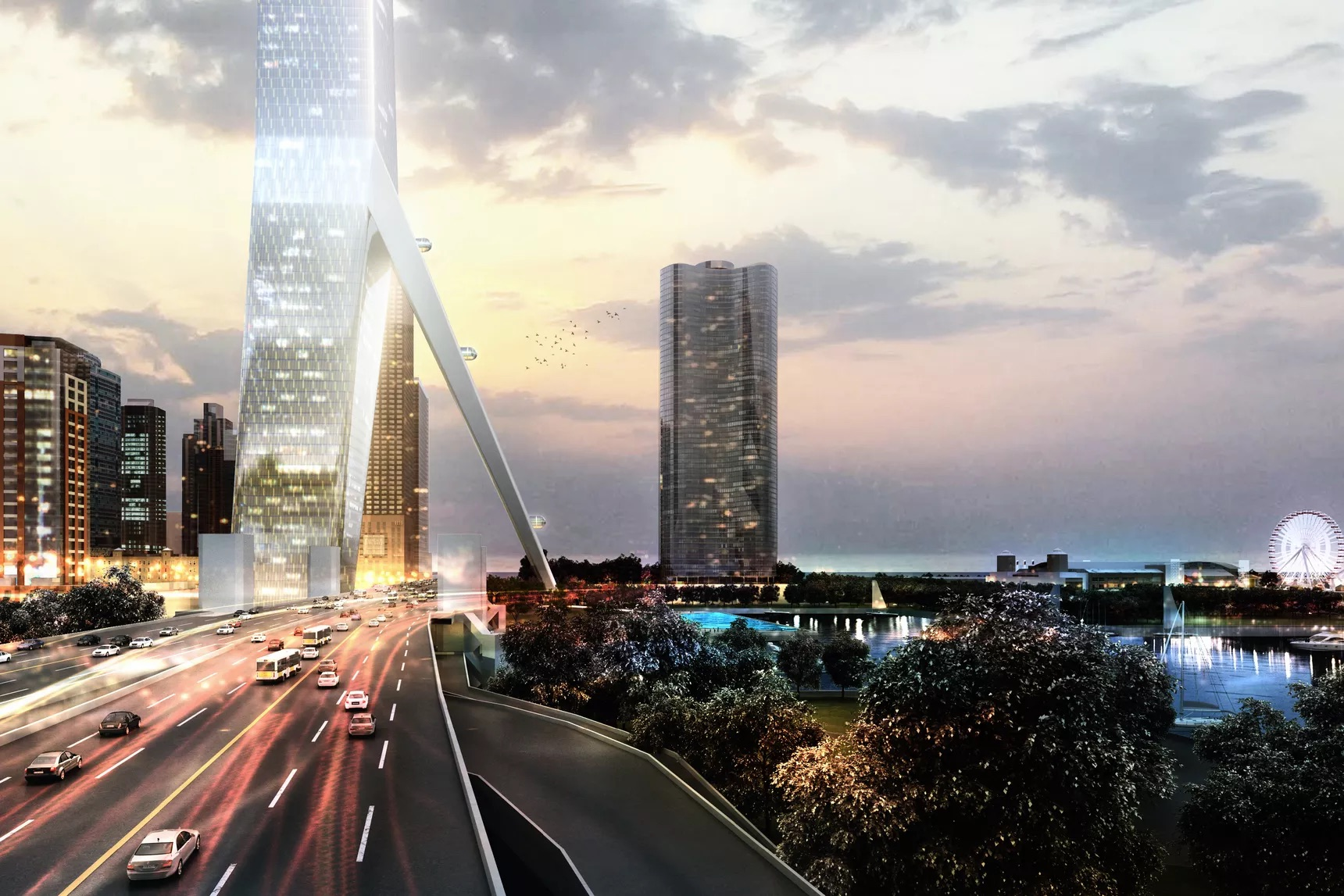 spire tower rendering
