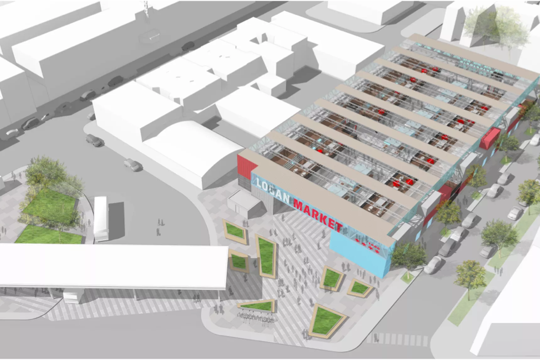 3 Car Garage Plans With Apartment Above Emmett St Parking Lot Open Air Market Or 100 Percent