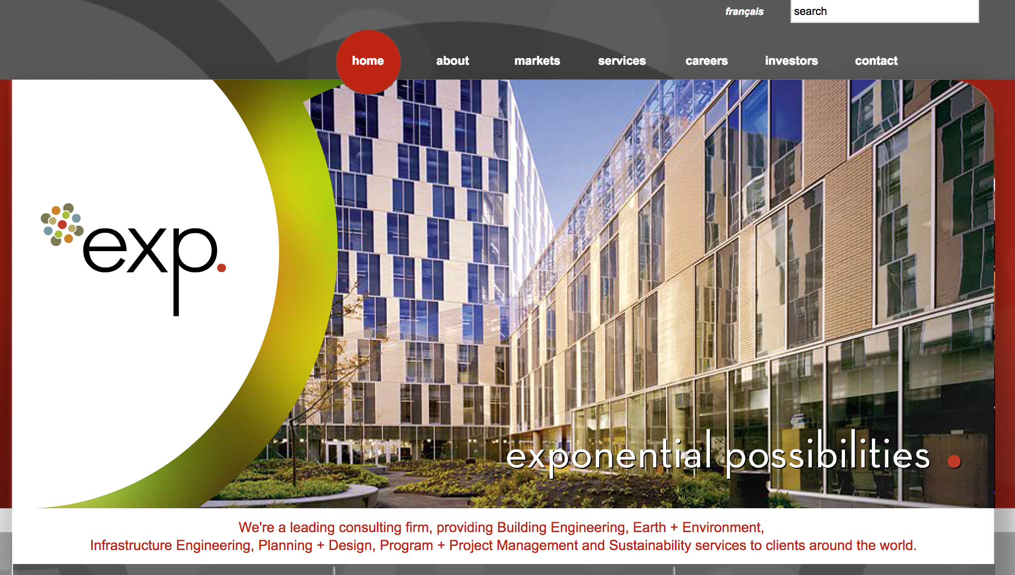 Global engineering and architecture firm exp relocates for Design consultancy chicago