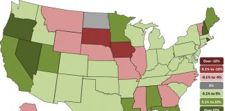 State employment map AGCA