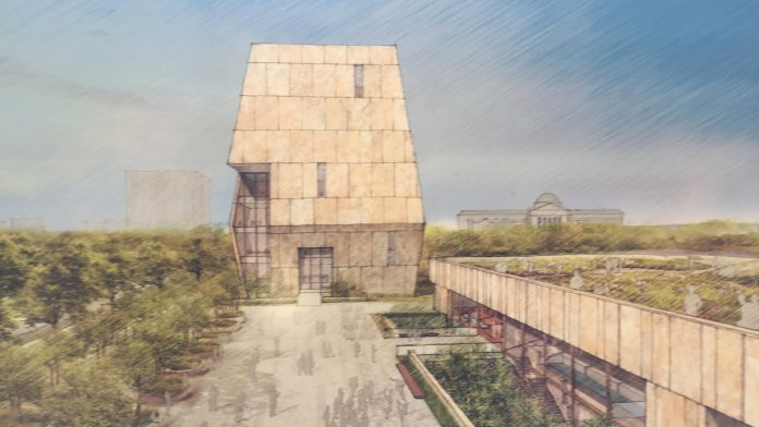 obama presidential center rendering