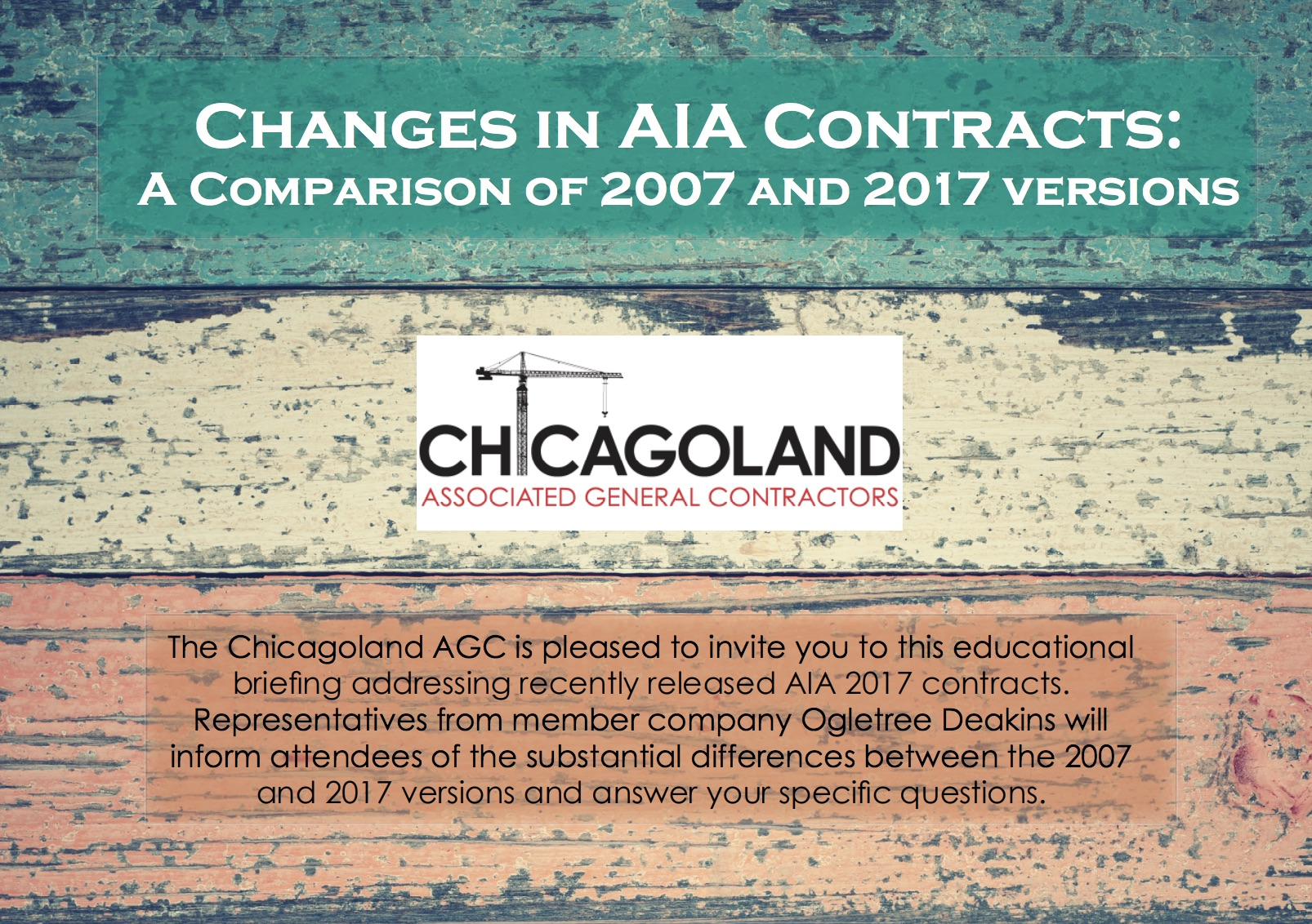 CAGC schedules briefing on new 2017 AIA contracts | Chicago