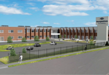 perspectives school exterior rendering