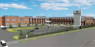 perspectives school exterior rendering