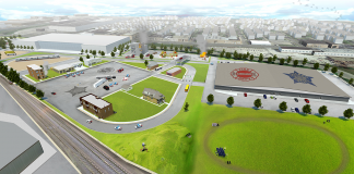 police and fire academy rendering