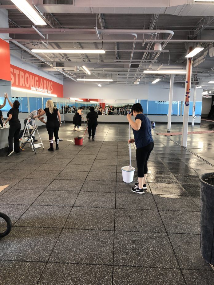 Deep cleaning at Blink Fitness