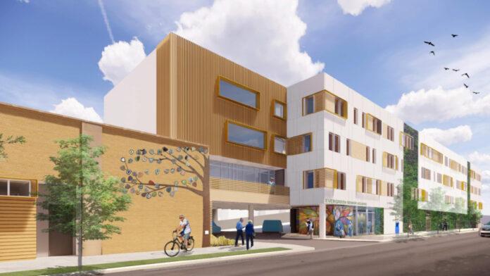 evanston senior housing rendering
