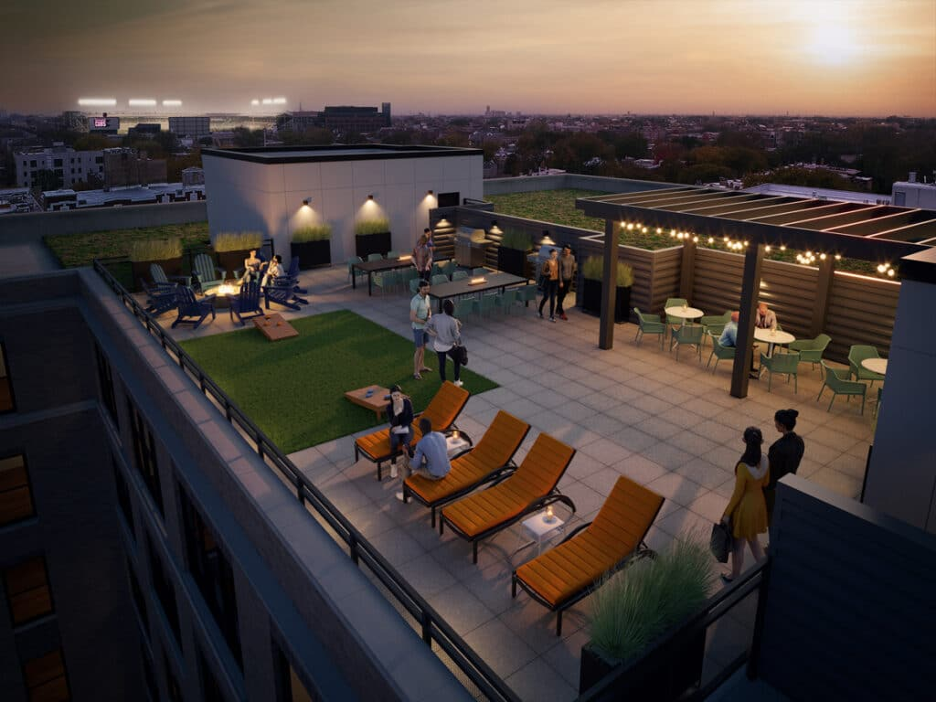 Wrigleyville Lofts Rooftop Deck