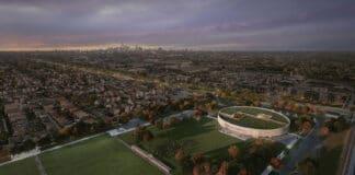 aerial view park