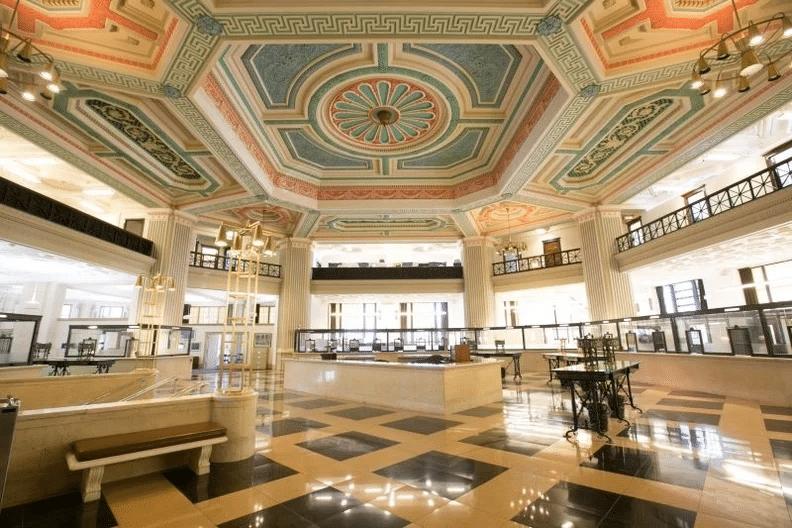 interior bank building